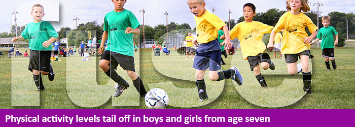 PA levels tail off age seven - banner image for news story